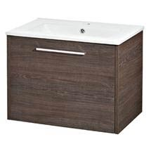 Hudson Reed - Horizon 600mm 1 Drawer Basin and Cabinet - Mid Sawn Oak - FHZ006 Medium Image