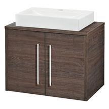Hudson Reed - Horizon 600mm 2 Door Cabinet and Worktop - Mid Sawn Oak - FHZ012 Medium Image