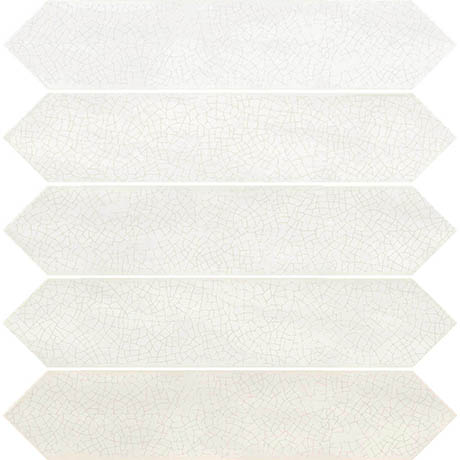 Finesse Gloss White Elongated Hexagon Wall Tiles - 65 x 330mm