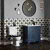 Bayswater Fitzroy Traditional Stiffkey Blue Sink Vanity Unit + Toilet Package profile small image view 1