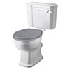 Bayswater Fitzroy Traditional Close Coupled Toilet with Ceramic Lever Flush profile small image view 1