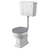 Bayswater Fitzroy Traditional Low Level Toilet with Ceramic Lever Flush profile small image view 1