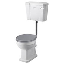 Bayswater Fitzroy Comfort Height Traditional Low Level Toilet with Ceramic Lever Flush