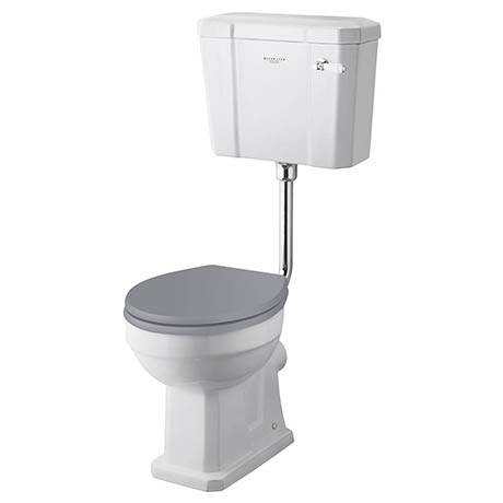 Bayswater Fitzroy Traditional Comfort Height Low Level Toilet with Ceramic Lever Flush