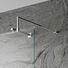 Hudson Reed Chrome Square Fixed Wet Room Support Arm profile small image view 1