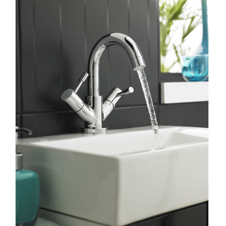 Ultra Series 2 Mono Basin Mixer with Swivel Spout & Pop Up Waste - FJ315 profile large image view 2
