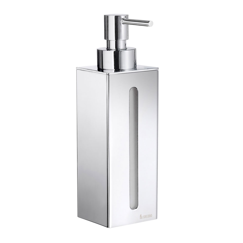 Smedbo Outline Wall Mounted Soap Dispenser - Polished Chrome - FK257 profile large image view 1