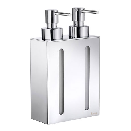 Smedbo Outline Wall Mounted Double Soap Dispenser - Polished Chrome - FK258