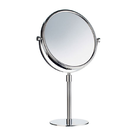 Smedbo Outline Freestanding Shaving/Make Up Mirror - Polished Chrome - FK435