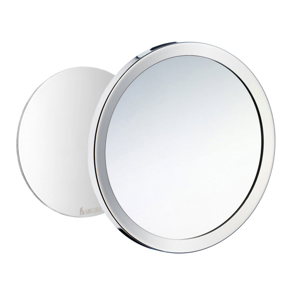 Smedbo Outline Self-Adhesive Magnetic Shaving/Make Up Mirror - Polished Chrome - FK442 Large Image