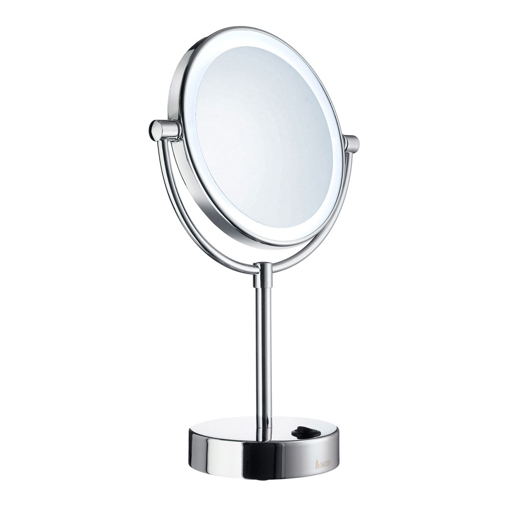 Smedbo Outline Shaving/Make Up Mirror with LED Light - Polished Chrome - FK474E Large Image