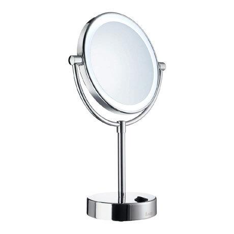 Smedbo Outline Shaving/Make Up Mirror with LED Light - Polished Chrome - FK474E