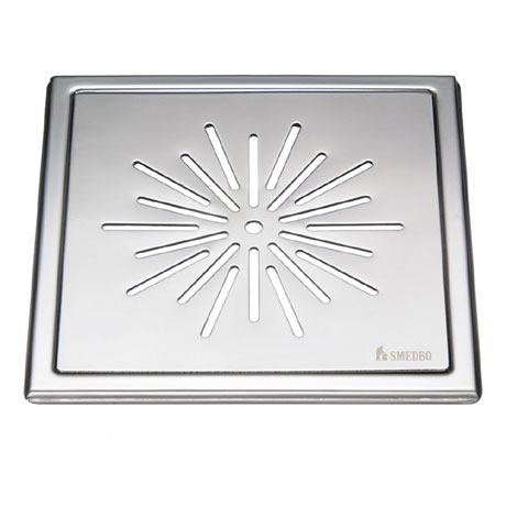 Smedbo Outline Star Pattern Floor Grating - Polished Stainless Steel - FK500