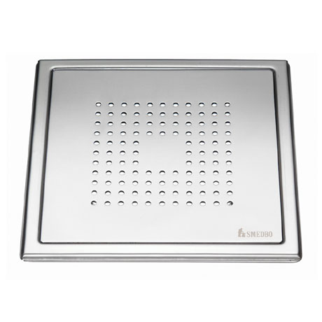 Smedbo Outline Square Pattern Floor Grating - Polished Stainless Steel - FK502