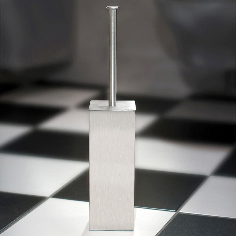 Smedbo Outline Lite Square Freestanding Toilet Brush - FK601 profile large image view 2