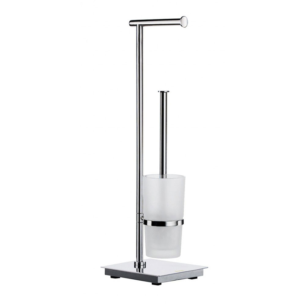 Smedbo Outline Lite Square Freestanding Toilet Brush and Roll Holder - FK603 profile large image view 1