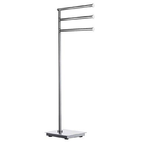 Smedbo Outline Lite Square Freestanding Triple Swing Arm Towel Rail - FK604