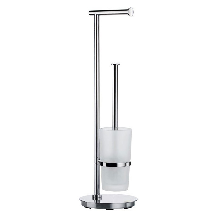 Smedbo Outline Lite Round Freestanding Toilet Brush and Roll Holder - FK607 profile large image view 1