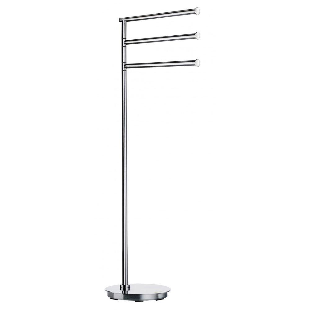 Smedbo Outline Lite Round Freestanding Triple Swing Arm Towel Rail - FK608 profile large image view 1