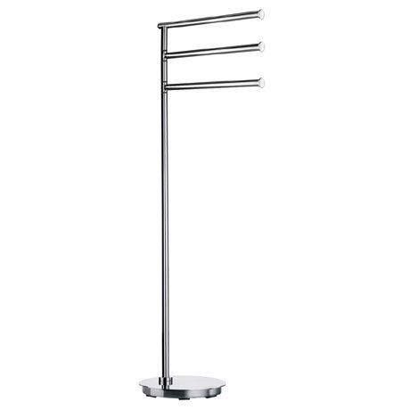 Smedbo Outline Lite Round Freestanding Triple Swing Arm Towel Rail - FK608