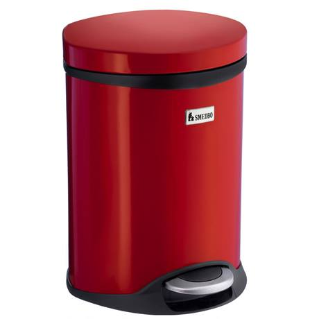 Smedbo Outline Lite 6 Litre Pedal Bin - Red