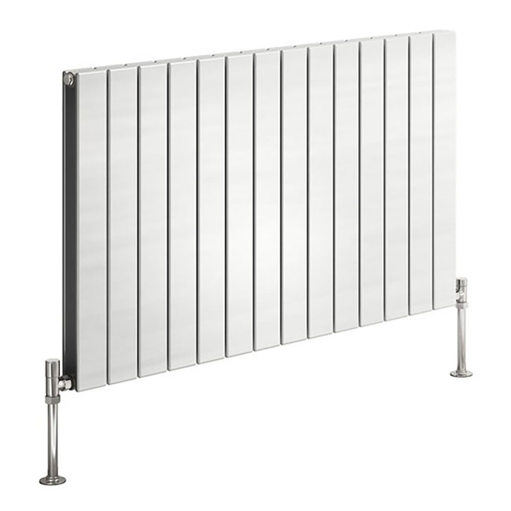 Reina Flat Horizontal Double Panel Designer Radiator - White