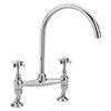 Tre Mercati Florence Chrome Dual Flow Bridge Pillar Kitchen Sink Mixer - FLORE-1069 profile small image view 1