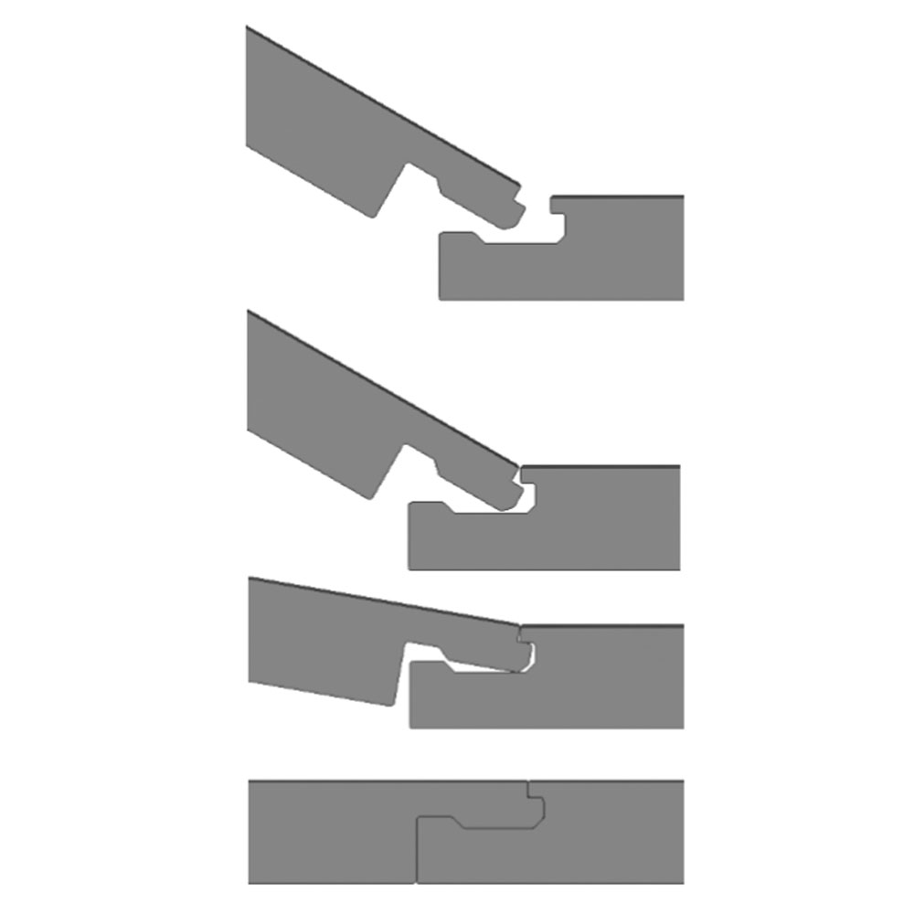 Harlow 181 x 1220mm Dove Grey Finish Vinyl Waterproof Plank Flooring  In Bathroom Large Image