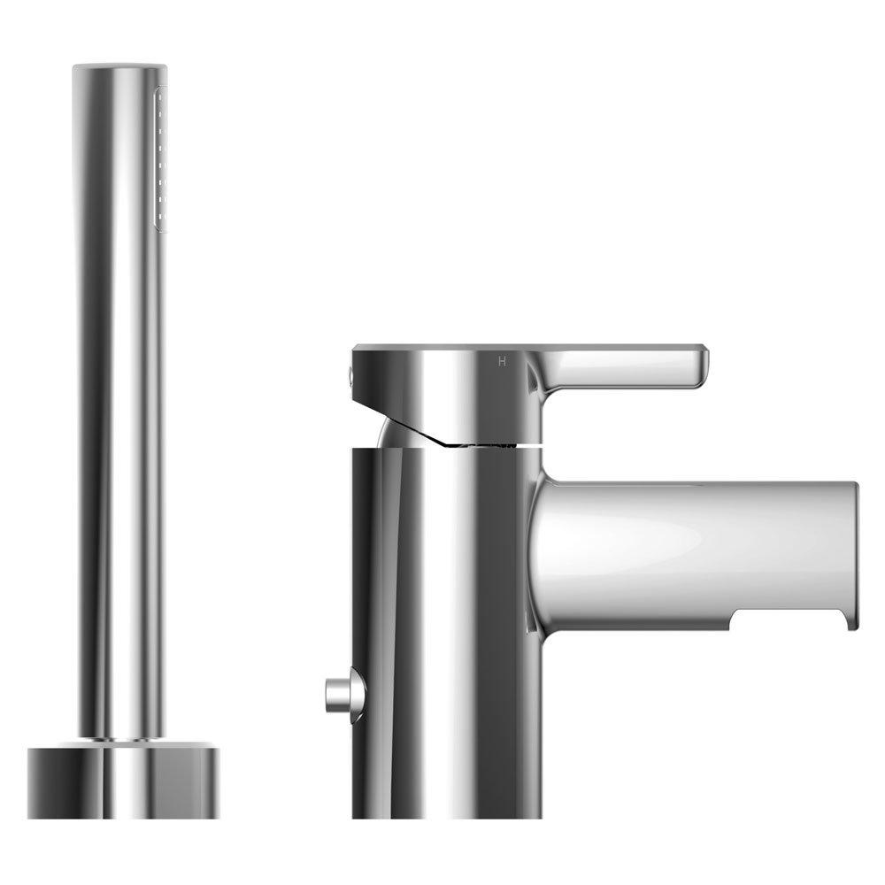 Bristan Flute 2 Hole Bath Shower Mixer with Kit Profile Large Image