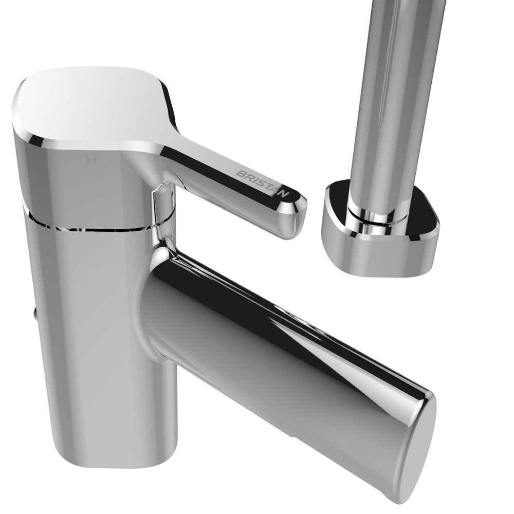 Bristan Flute 2 Hole Bath Shower Mixer with Kit Feature Large Image