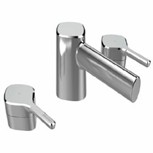 Bristan Flute 3 Hole Basin Mixer with Clicker Waste Medium Image