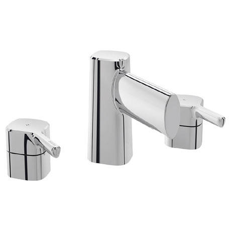 Bristan Flute 3 Hole Basin Mixer with Clicker Waste