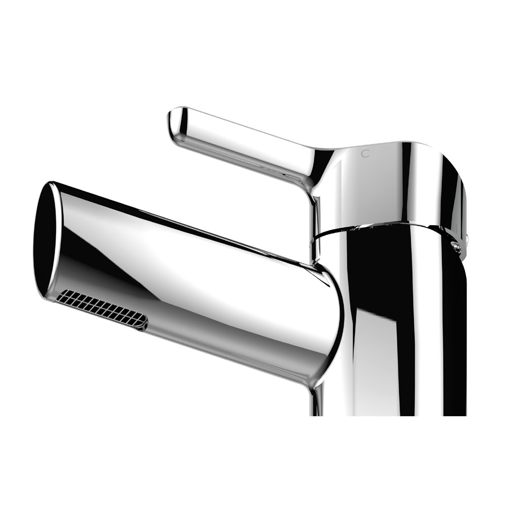 Bristan Flute Mono Basin Mixer with Clicker Waste Standard Large Image