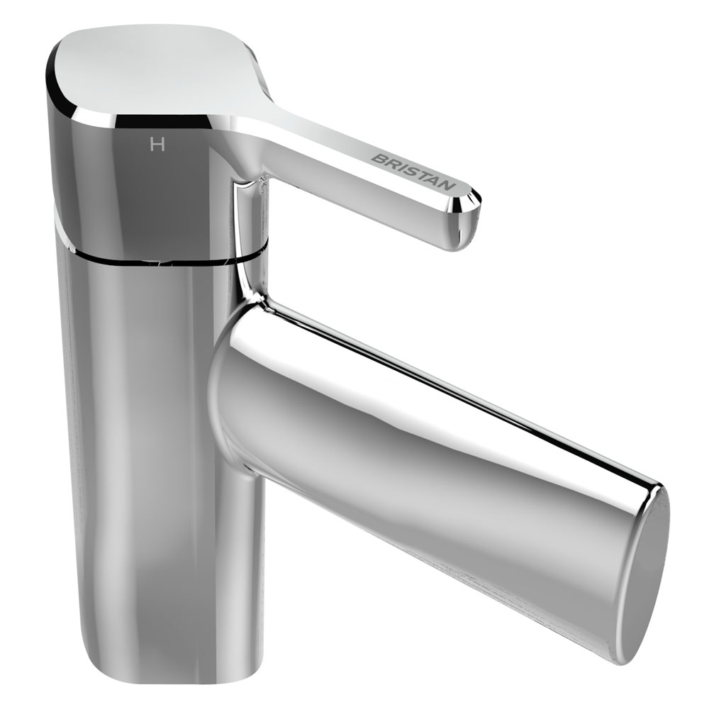 Bristan Flute Mono Basin Mixer with Clicker Waste Large Image