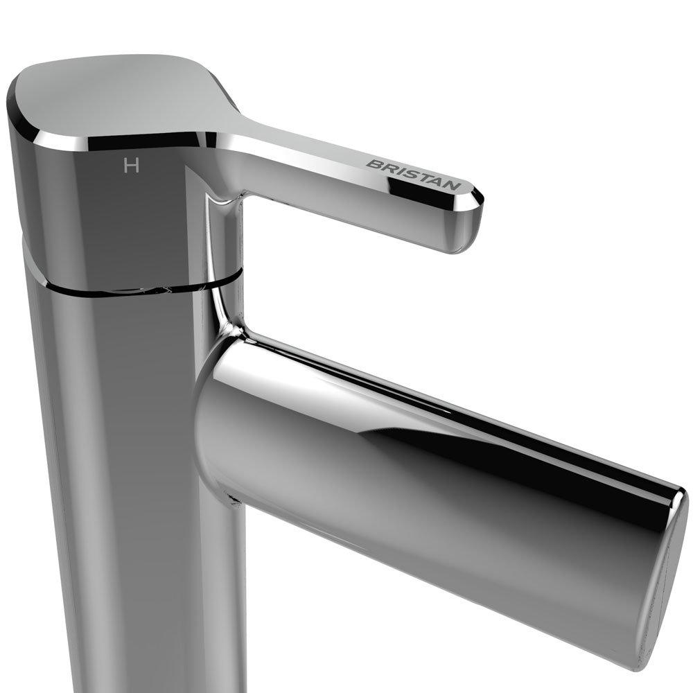 Bristan Flute Tall Mono Basin Mixer with Clicker Waste Profile Large Image