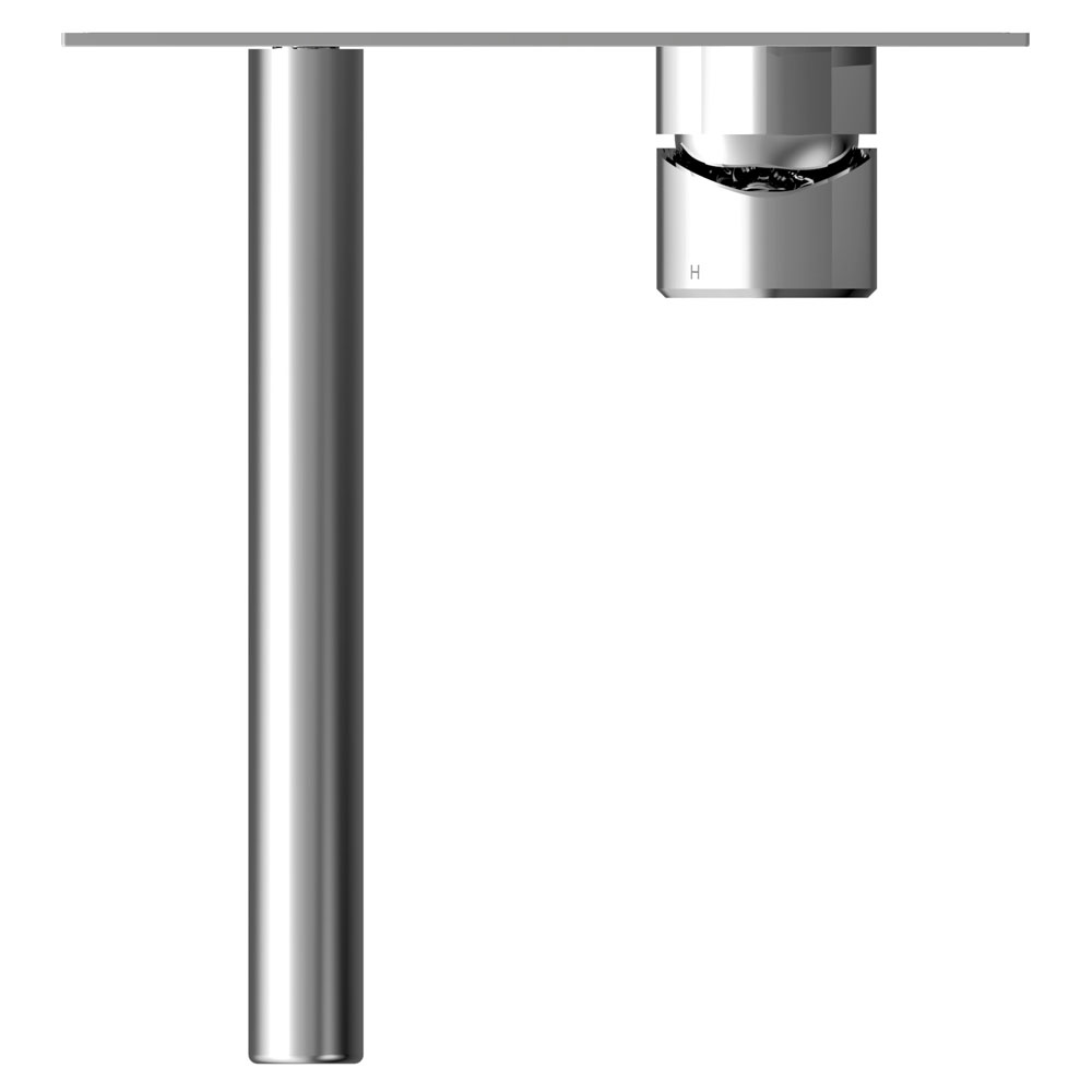 Bristan Flute Wall Mounted Basin Mixer profile large image view 3