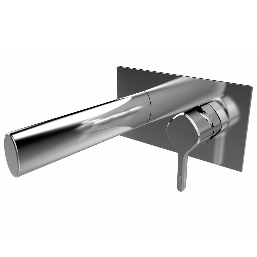 Bristan Flute Wall Mounted Basin Mixer profile large image view 1