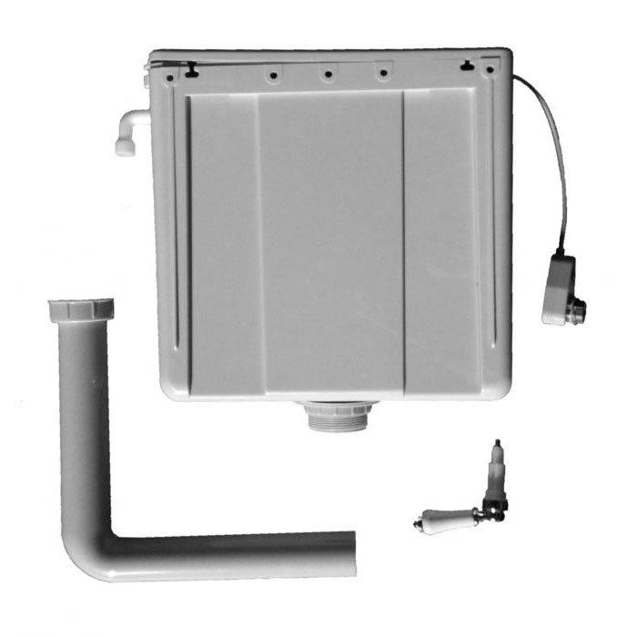 Burlington - Top Access Dual Flush Cistern with Ceramic Lever profile large image view 2