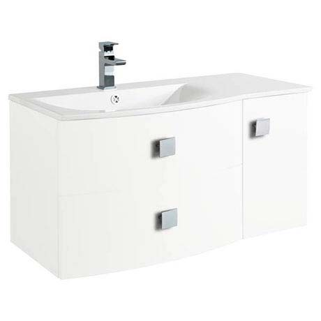 Hudson Reed Sarenna 1000mm Wall Hung Cabinet & Basin - White