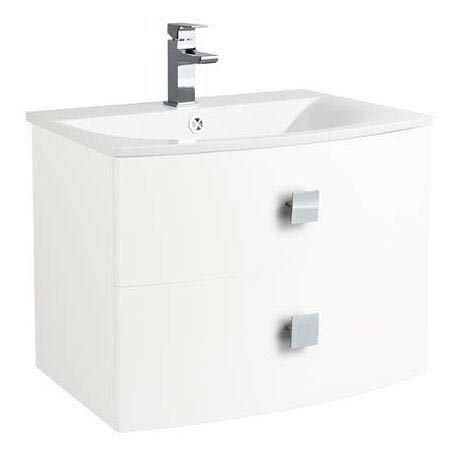Hudson Reed Sarenna 700mm Wall Hung Cabinet & Basin - White Large Image