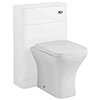 Hudson Reed Sarenna 550mm WC Unit - White profile small image view 1