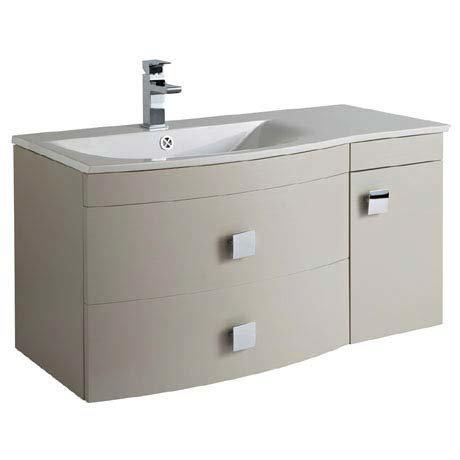 Hudson Reed Sarenna 1000mm Wall Hung Cabinet & Basin - Cashmere