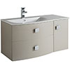 Hudson Reed Sarenna 1000mm Wall Hung Cabinet & Basin - Cashmere profile small image view 1