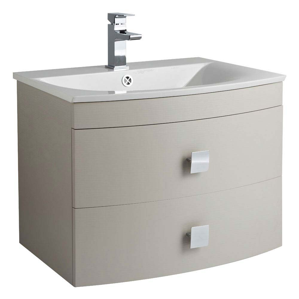Hudson Reed Sarenna 700mm Wall Hung Cabinet & Basin - Cashmere Large Image
