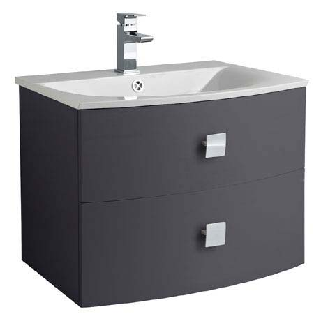 Hudson Reed Sarenna 700mm Wall Hung Cabinet & Basin - Graphite
