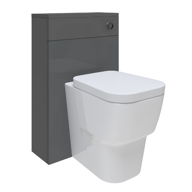 Hudson Reed Memoir BTW Toilet Unit inc Pan and Cistern - Gloss Grey Large Image