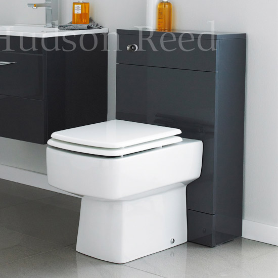 Hudson Reed Memoir Back to Wall WC Unit W500 x D200mm - Gloss Grey - FME010 profile large image view 2