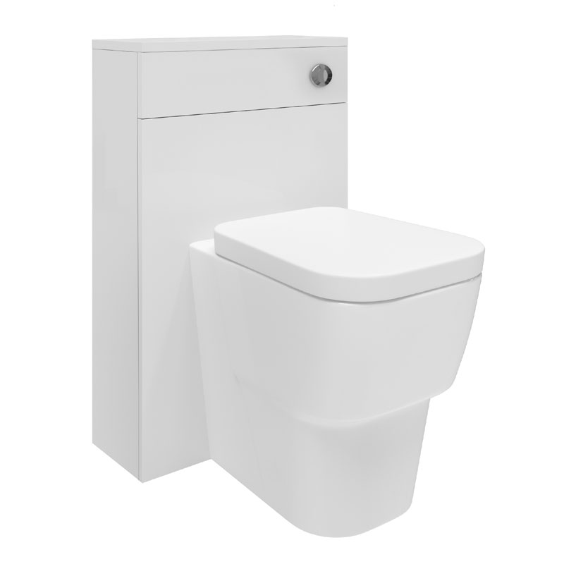 Hudson Reed Memoir BTW Toilet Unit inc Pan and Cistern - Gloss White profile large image view 1