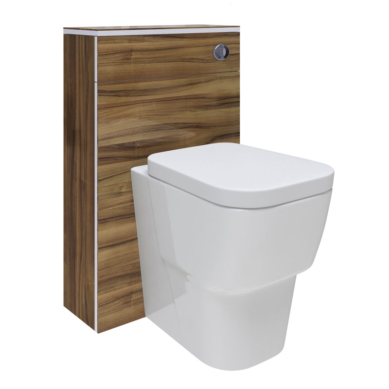 Hudson Reed Memoir BTW Toilet Unit inc Pan and Cistern - Gloss Walnut Large Image