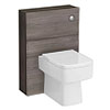 Urban Compact 600x220mm WC Unit - Grey Avola profile small image view 1